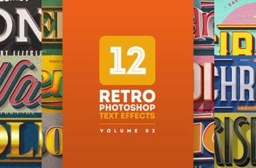 retro photoshop layer styles