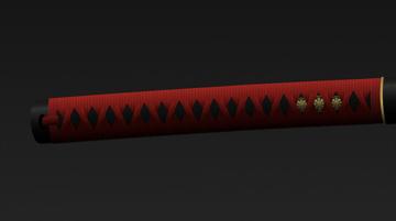 completed katana handle