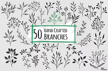 50 Hand Crafted Floral Branches