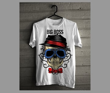 Big Boss Skull with Tribal Background
