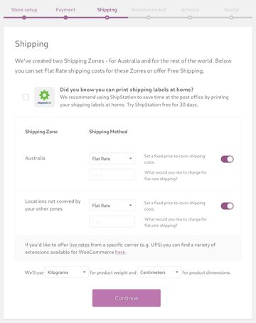 Specify the way you would like to handle shipping
