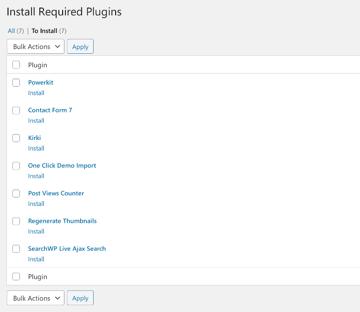 Suggested companion plugins