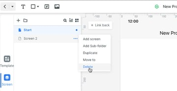delete second default screen