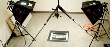 Light positions for photographing flat work