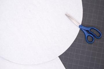 Cutting a paper circle
