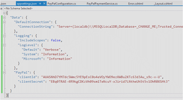 Application Settings JSON