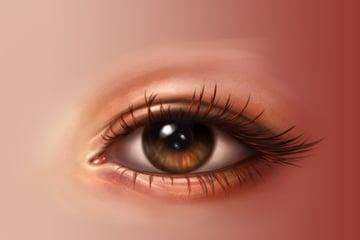 Eyelashes details
