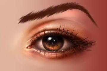 Eyebrow smudge