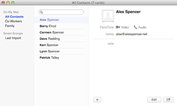 Grouping your contacts