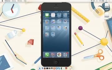Mirroring an iOS device to the Mac using Reflector