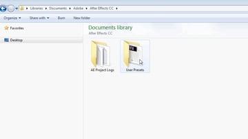 User Presets folder
