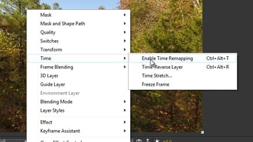 enable time remapping