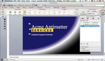re-ordering animation on the Macintosh