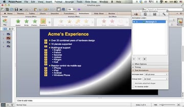 text animations screen on the Macintosh