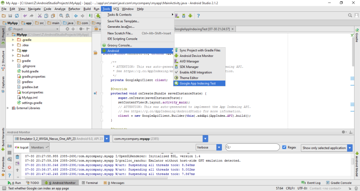 On Android Studio select Tools Android Google App Indexing Test