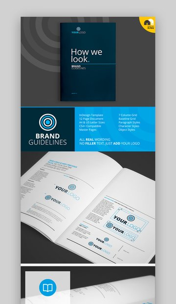 How We Look - Brand Guidelines InDesign Template