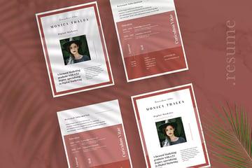 Minimalist CV Resume Vol 24