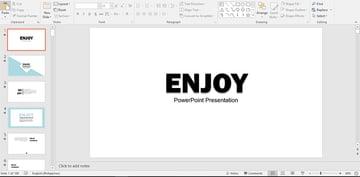 Enjoy PowerPoint Template