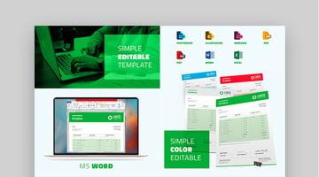 Multipurpose Simple Invoice Template Design
