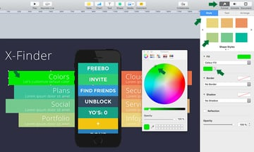 Customize Colors in Apple Keynote