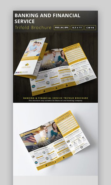 Banking and Financial Service Trifold Brochure