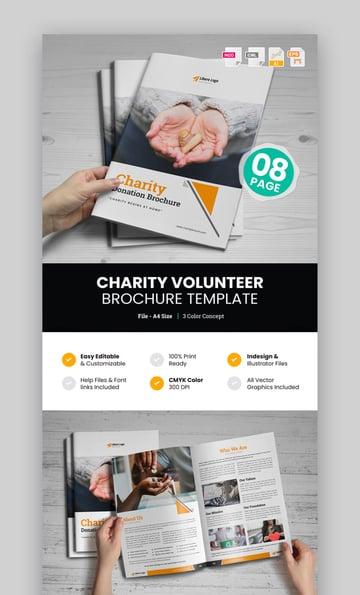 Charity Volunteer Donation Brochure