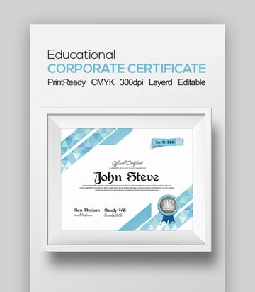 Educational Certificate and Diploma Template