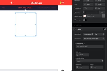 Animating the challenges cards