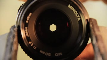 Lens with aperture closed