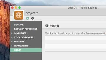CodeKit Project Settings View