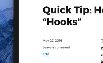 The WordPress post edit link in the front-end