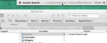 LaunchBar 5 AppleScript Actions
