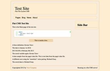 nodePress Server Main Page