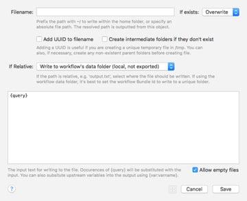 Write To File Workflow Element