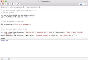 Script Editor Set for JavaScript JXA