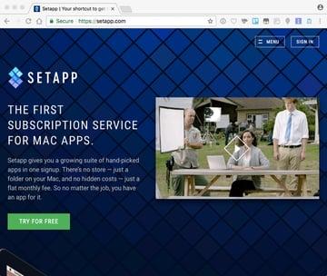 SetApp Home Page