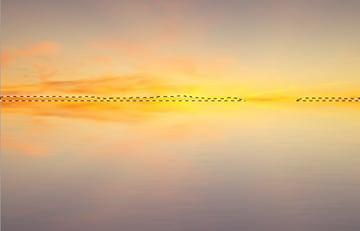 masking horizon line