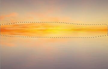 horizon line darken