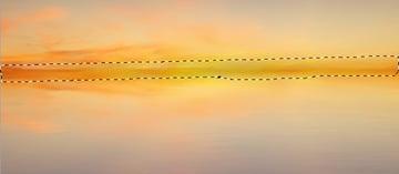 horizon line darken more