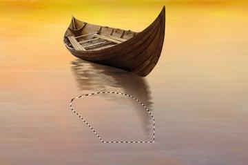 boat reflection masking