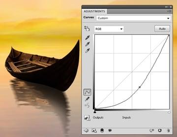 boat curves darken
