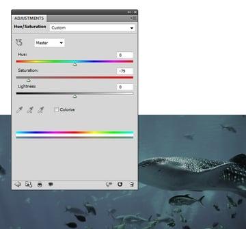 underwater hue saturation