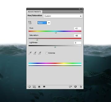 sea hue saturation
