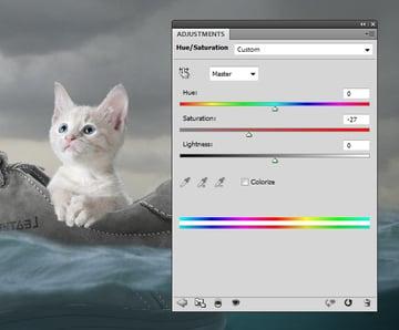cat hue saturation