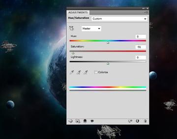 spaceships hue saturation