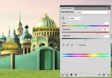 domes hue saturation