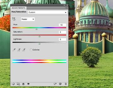 tree 5 hue saturation