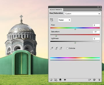 building 1 hue saturation 1