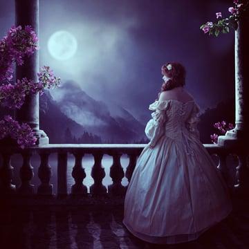 FInal image of moonlit scene