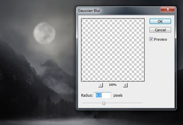 moon gaussian blur